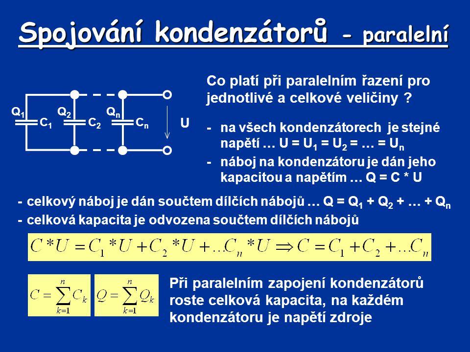 Spojování kondenzátorů - paralelní