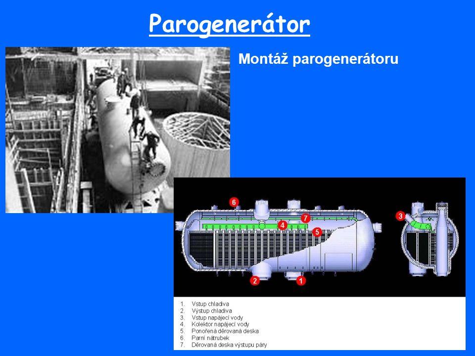 Parogenerátor Montáž parogenerátoru