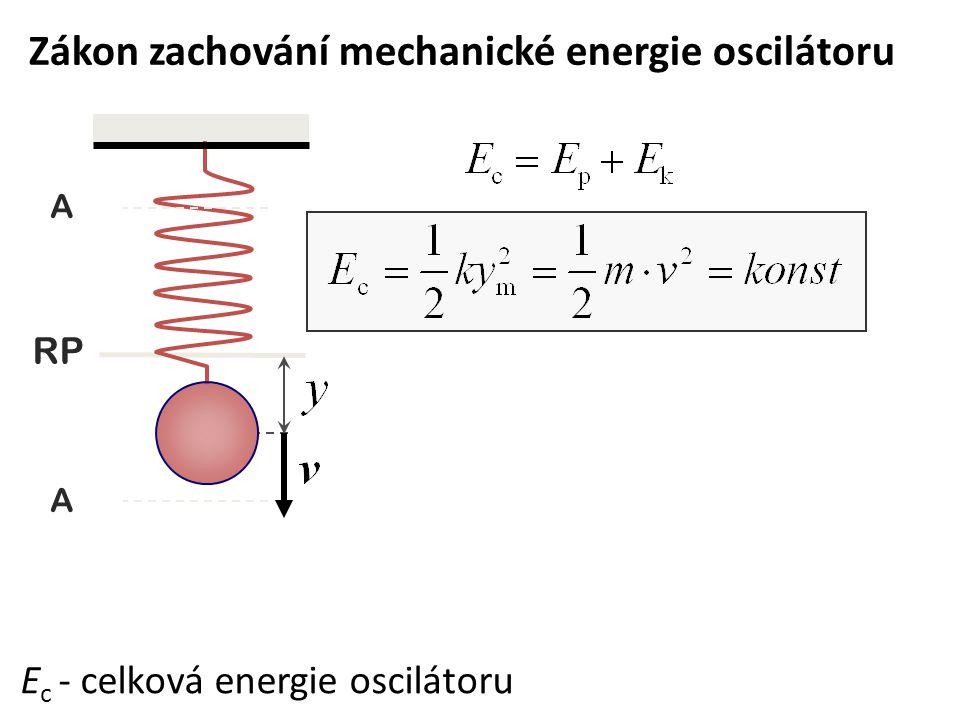 Zákon zachování mechanické energie oscilátoru