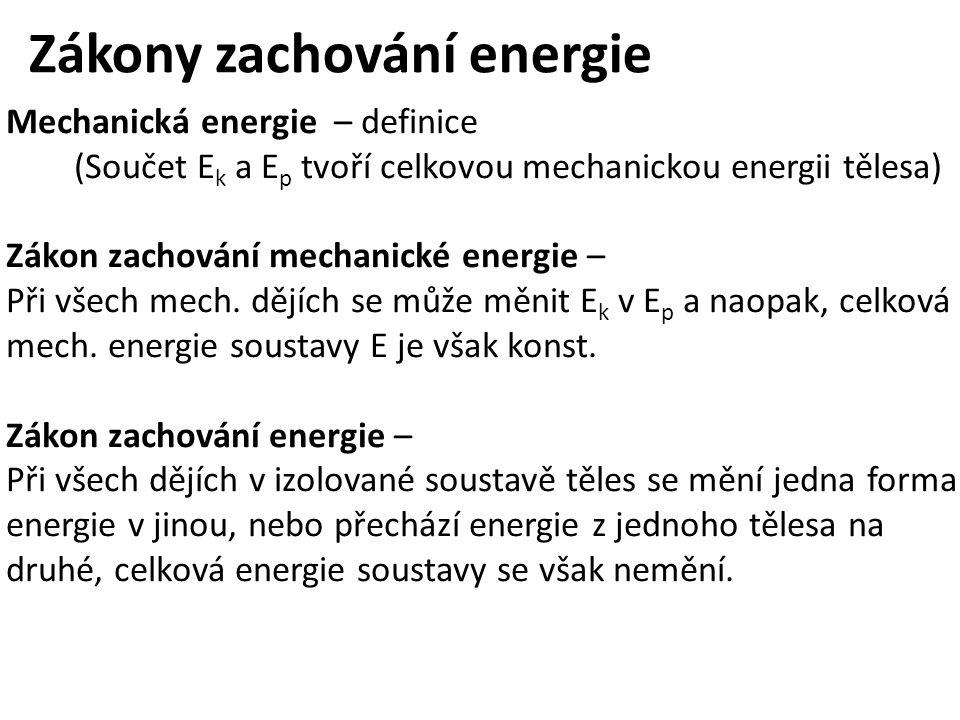 Zákony zachování energie