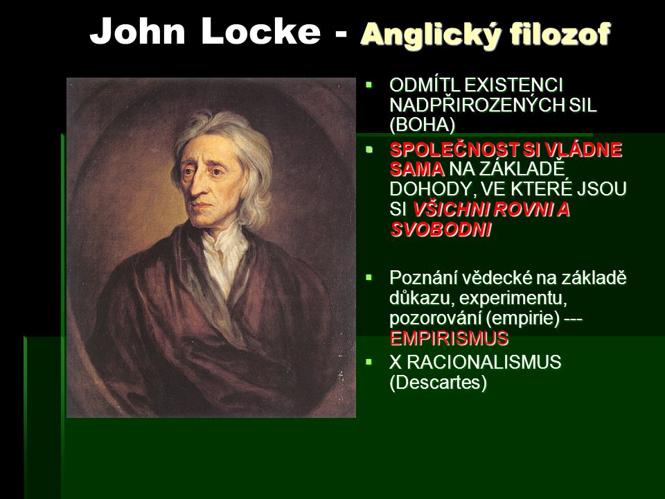 John Locke - Anglický filozof