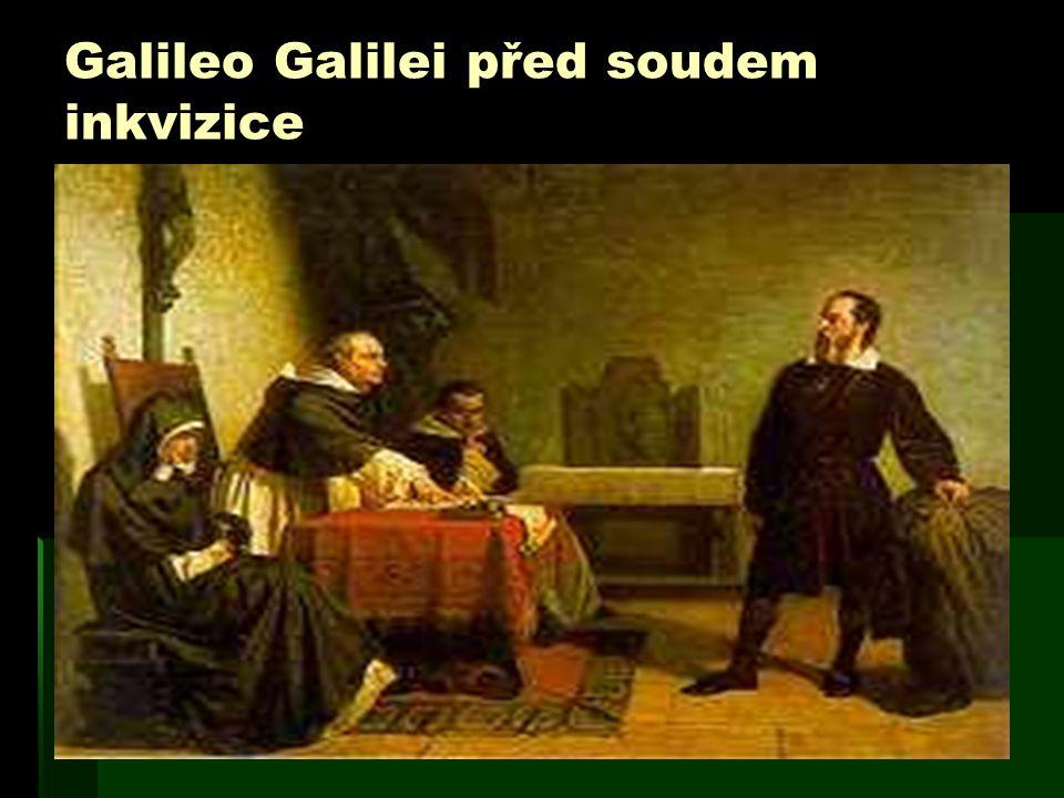 Galileo Galilei před soudem inkvizice