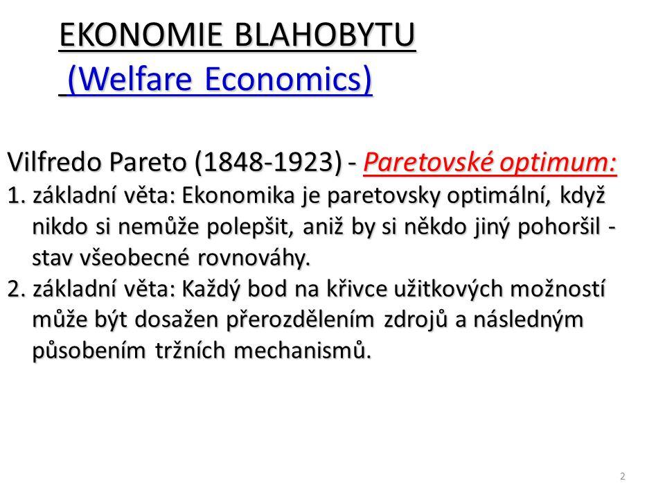 EKONOMIE BLAHOBYTU (Welfare Economics)