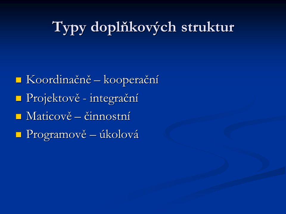 Typy doplňkových struktur