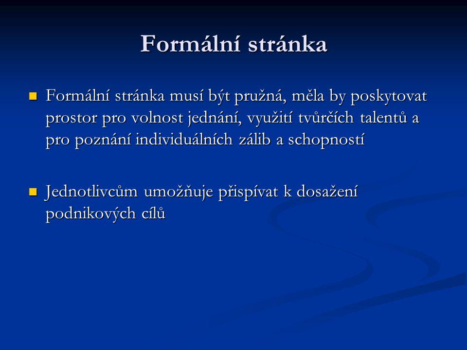Formální stránka