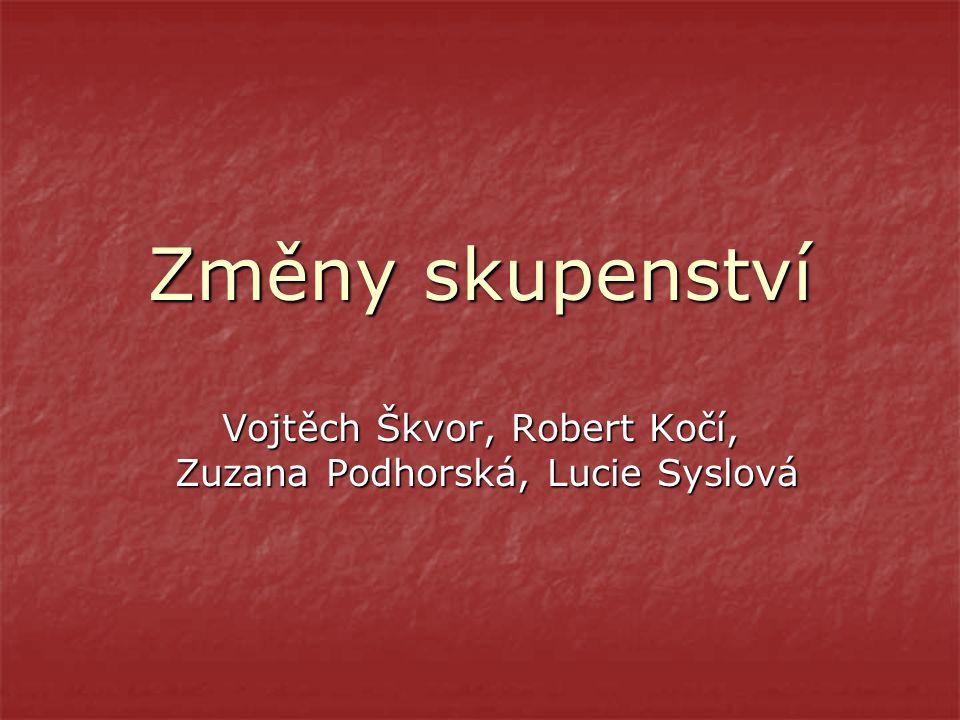Vojtěch Škvor, Robert Kočí, Zuzana Podhorská, Lucie Syslová