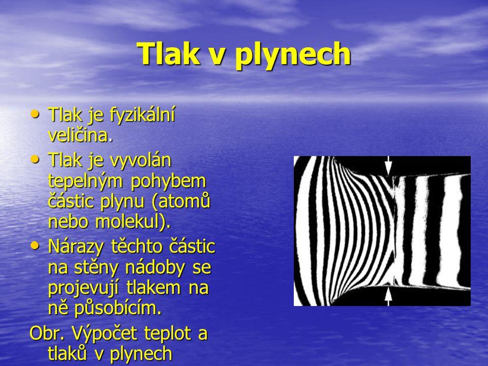 Tlak v plynech Tlak je fyzikální veličina.