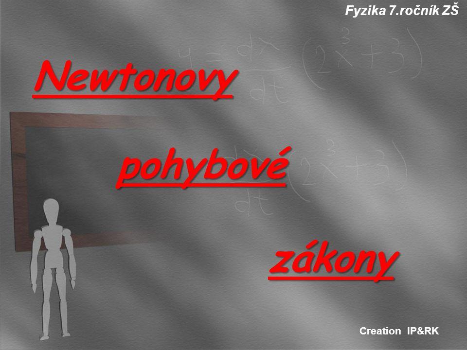 Fyzika 7.ročník ZŠ Newtonovy pohybové zákony Creation IP&RK