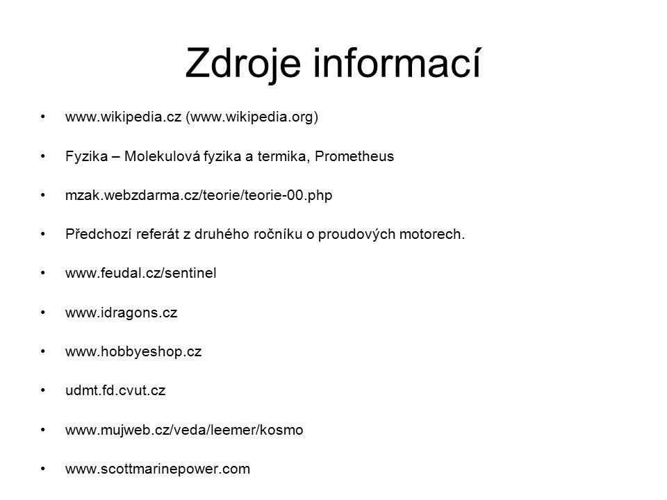 Zdroje informací www.wikipedia.cz (www.wikipedia.org)