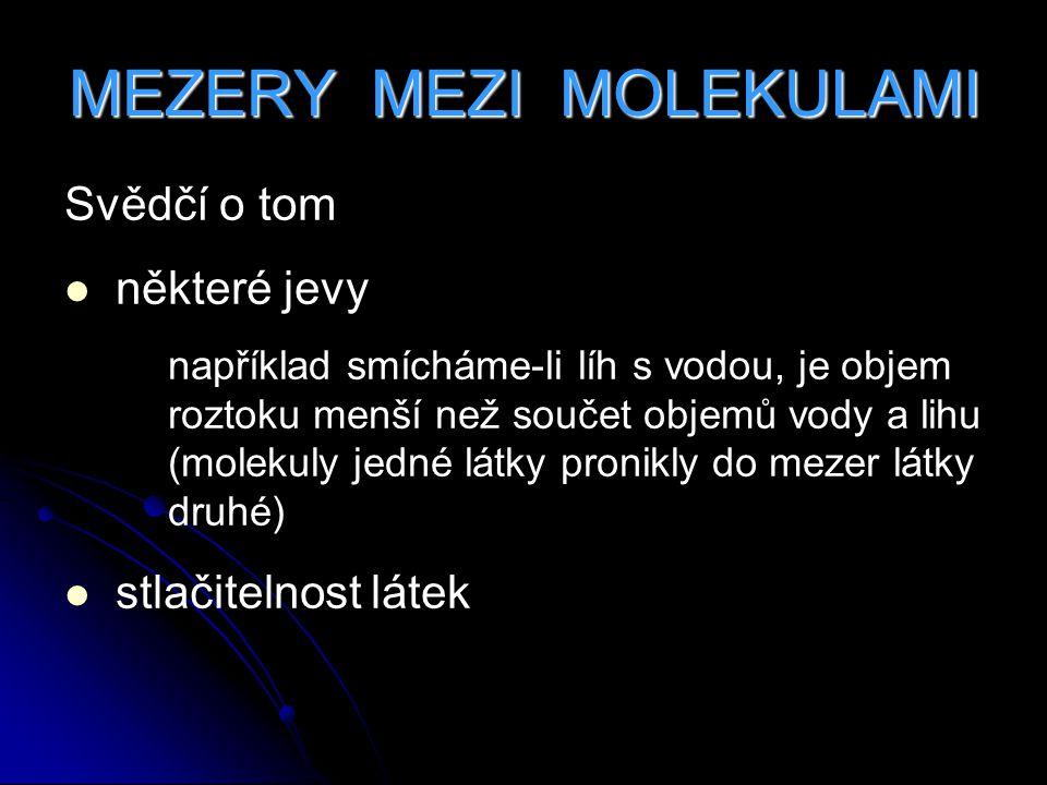 MEZERY MEZI MOLEKULAMI