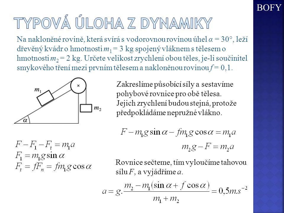 Typová úloha z dynamiky