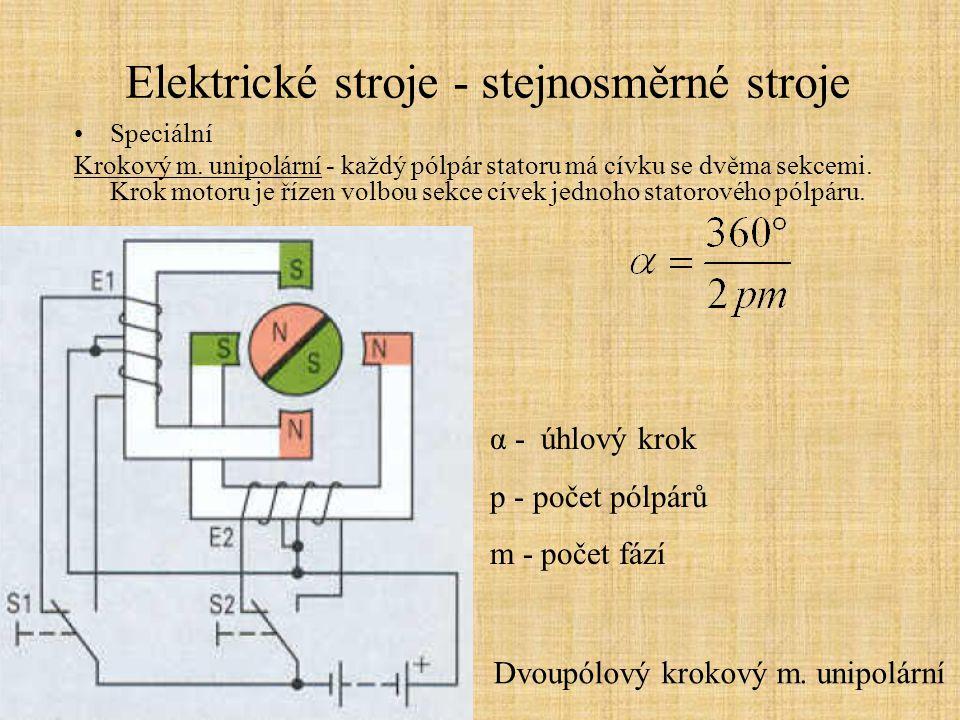 Elektrické stroje - stejnosměrné stroje