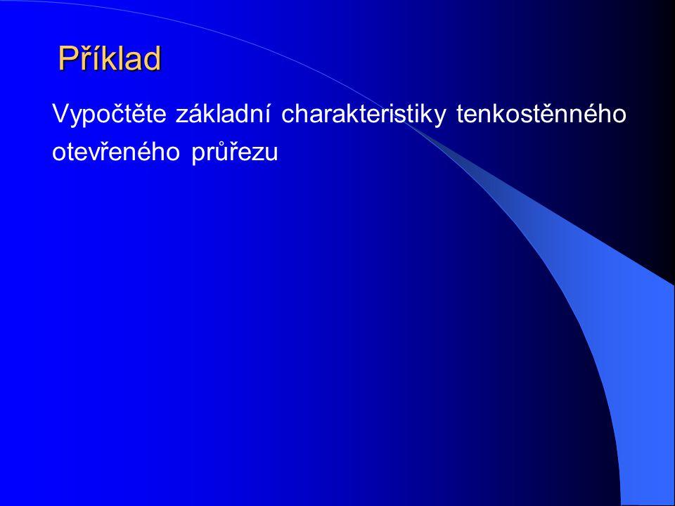 Příklad Vypočtěte základní charakteristiky tenkostěnného