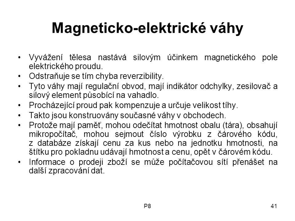 Magneticko-elektrické váhy