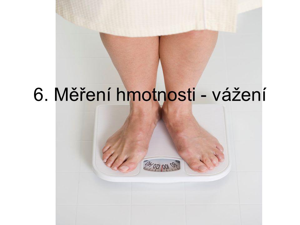 6. Měření hmotnosti - vážení