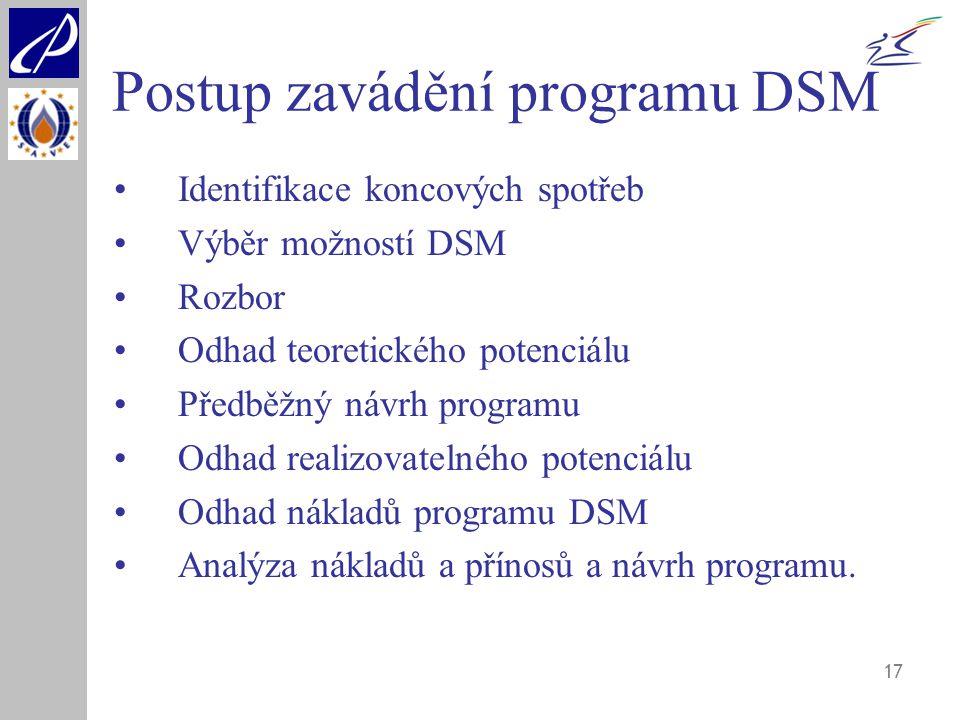Postup zavádění programu DSM