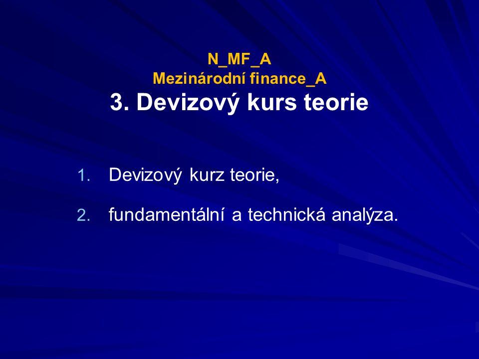 N_MF_A Mezinárodní finance_A 3. Devizový kurs teorie