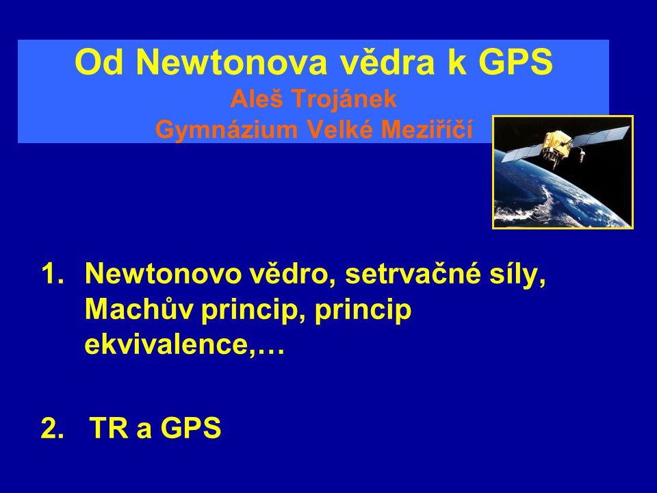 Od Newtonova vědra k GPS Aleš Trojánek Gymnázium Velké Meziříčí