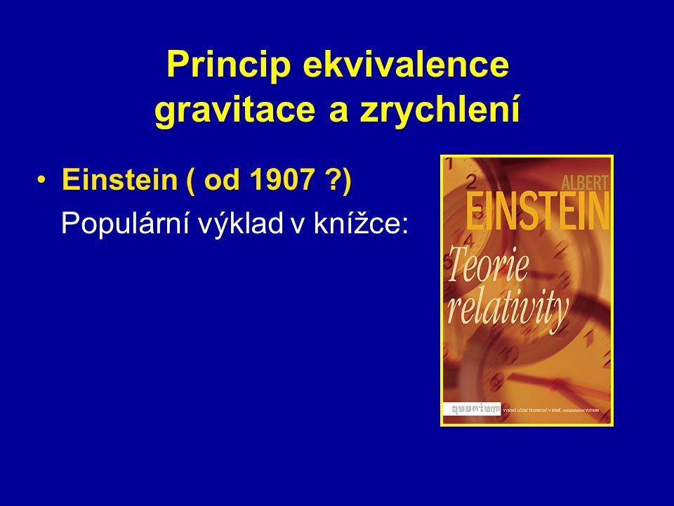 Princip ekvivalence gravitace a zrychlení