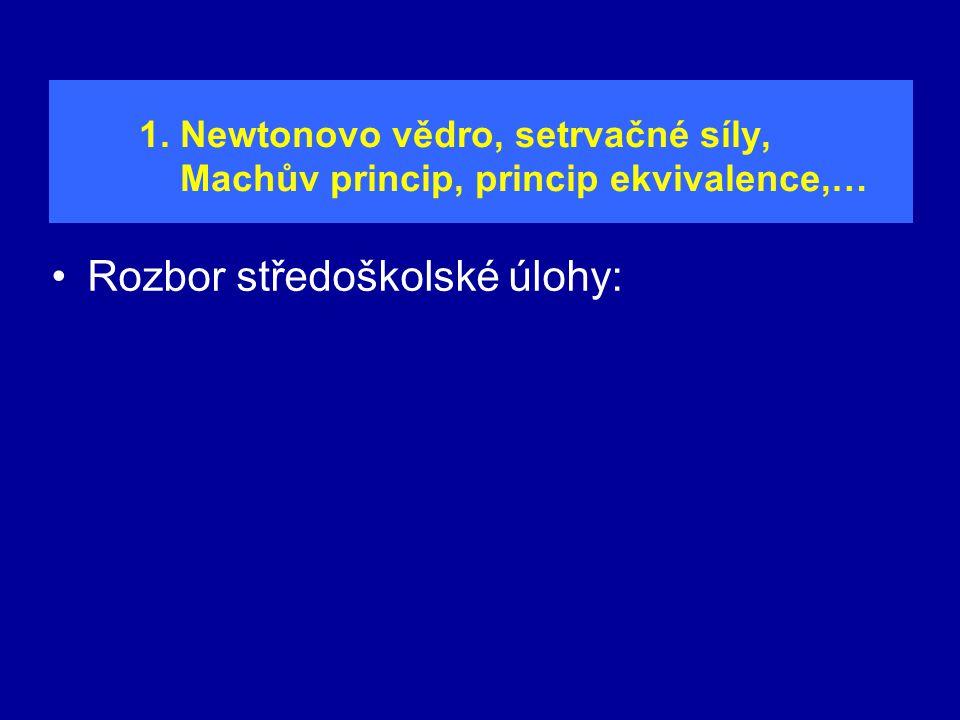 1. Newtonovo vědro, setrvačné síly, Machův princip, princip ekvivalence,…
