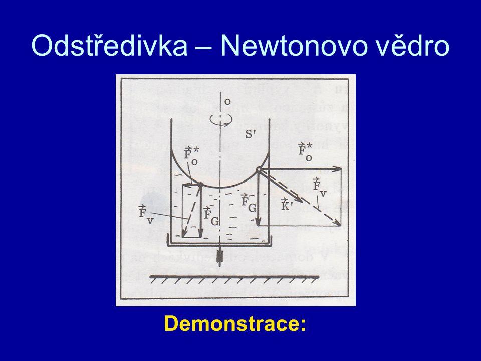 Odstředivka – Newtonovo vědro