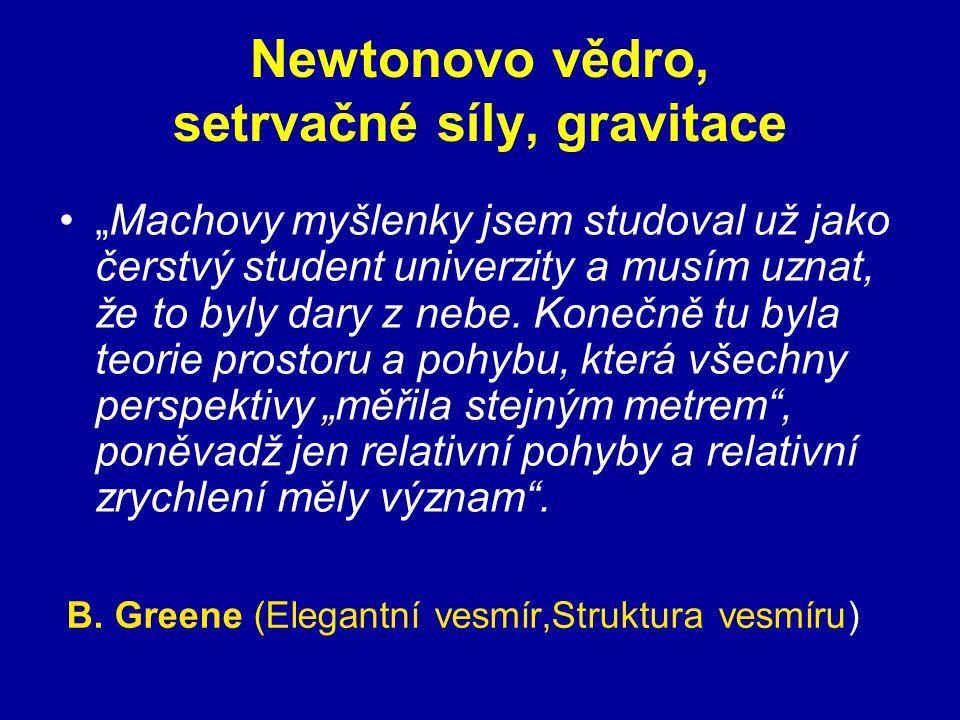 Newtonovo vědro, setrvačné síly, gravitace
