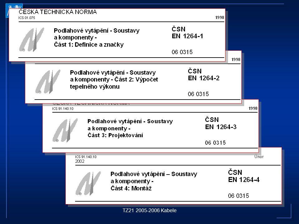 ČESKÁ TECHNICKÁ NORMA ICS 01.075 1998 TZ21 2005-2006 Kabele