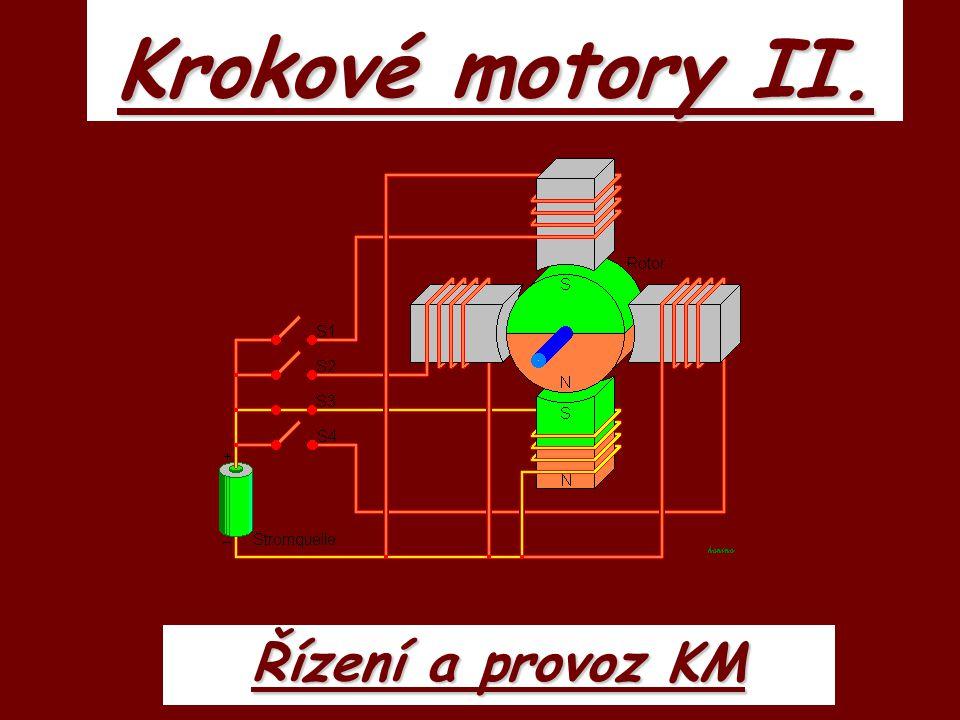 Krokové motory II. Řízení a provoz KM