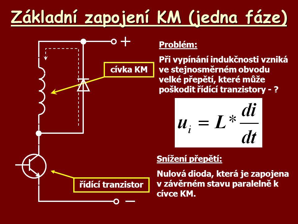 Základní zapojení KM (jedna fáze)