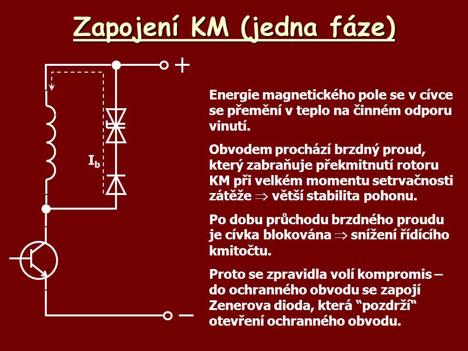 Zapojení KM (jedna fáze)