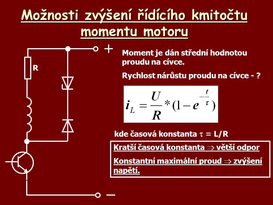 Možnosti zvýšení řídícího kmitočtu momentu motoru