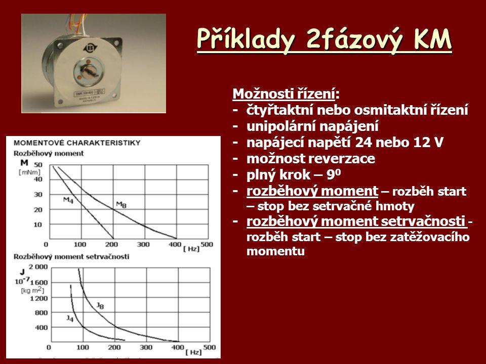 Příklady 2fázový KM Možnosti řízení: