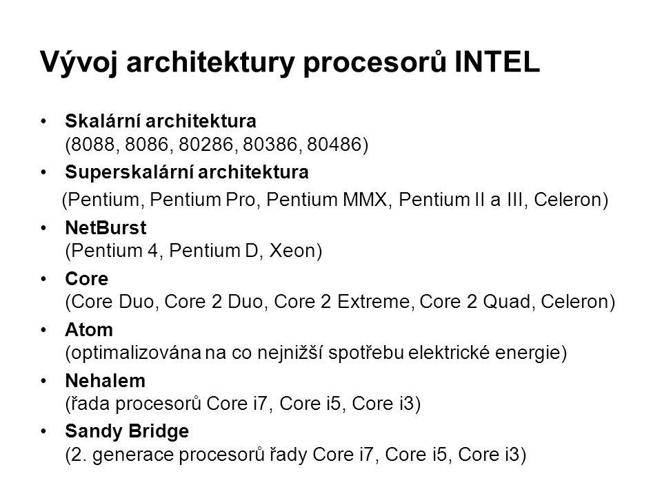 Vývoj architektury procesorů INTEL