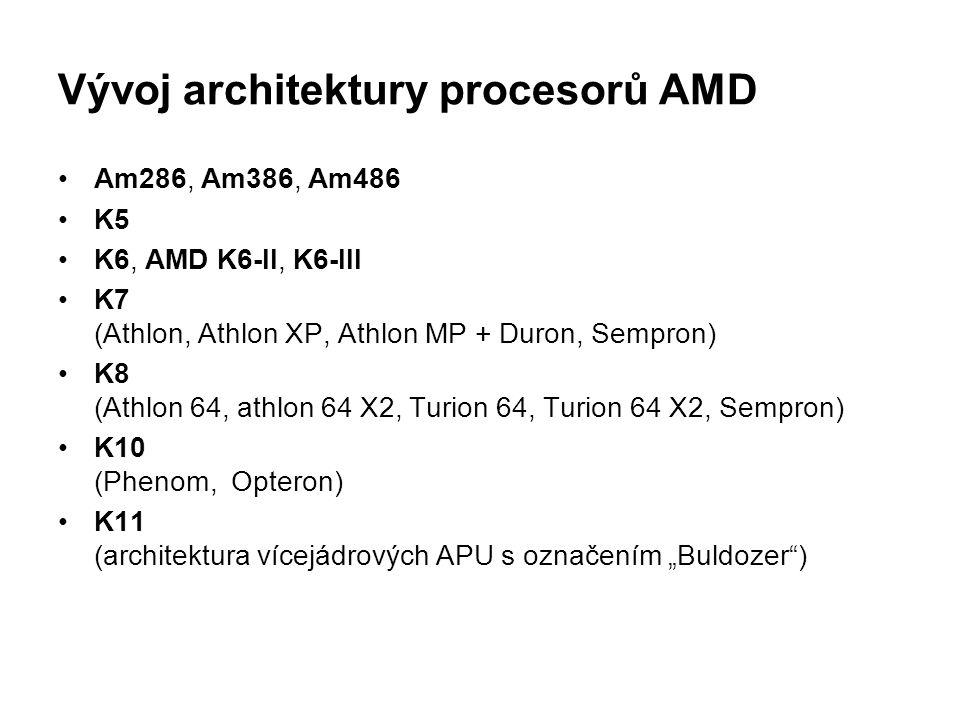 Vývoj architektury procesorů AMD