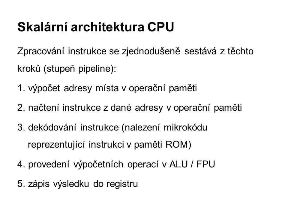 Skalární architektura CPU