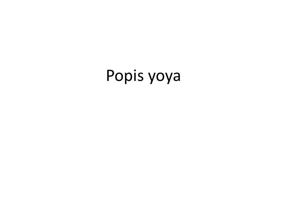 Popis yoya