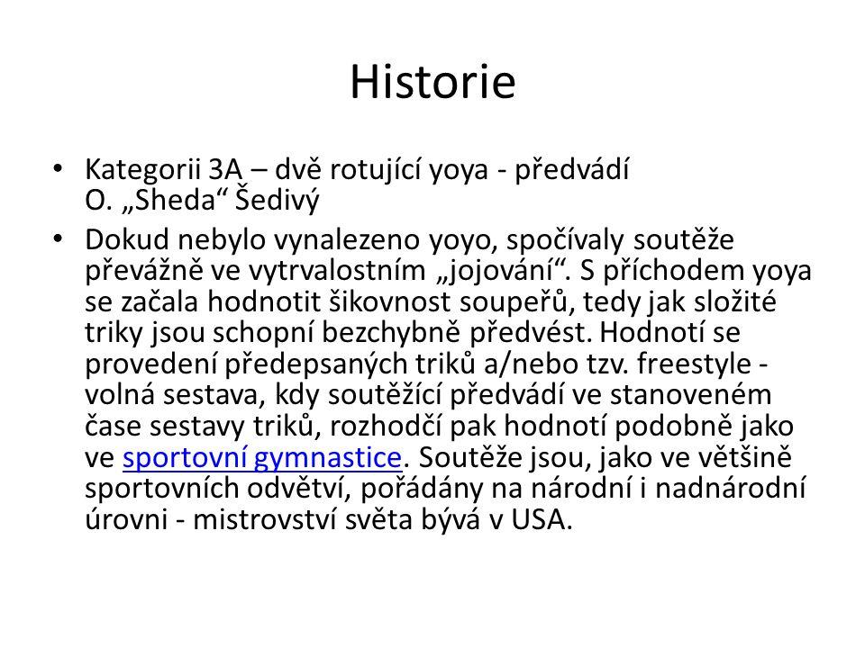 """Historie Kategorii 3A – dvě rotující yoya - předvádí O. """"Sheda Šedivý"""