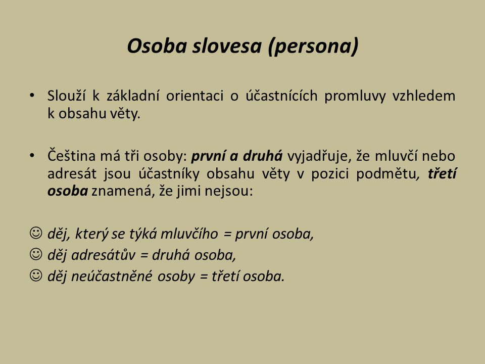 Osoba slovesa (persona)