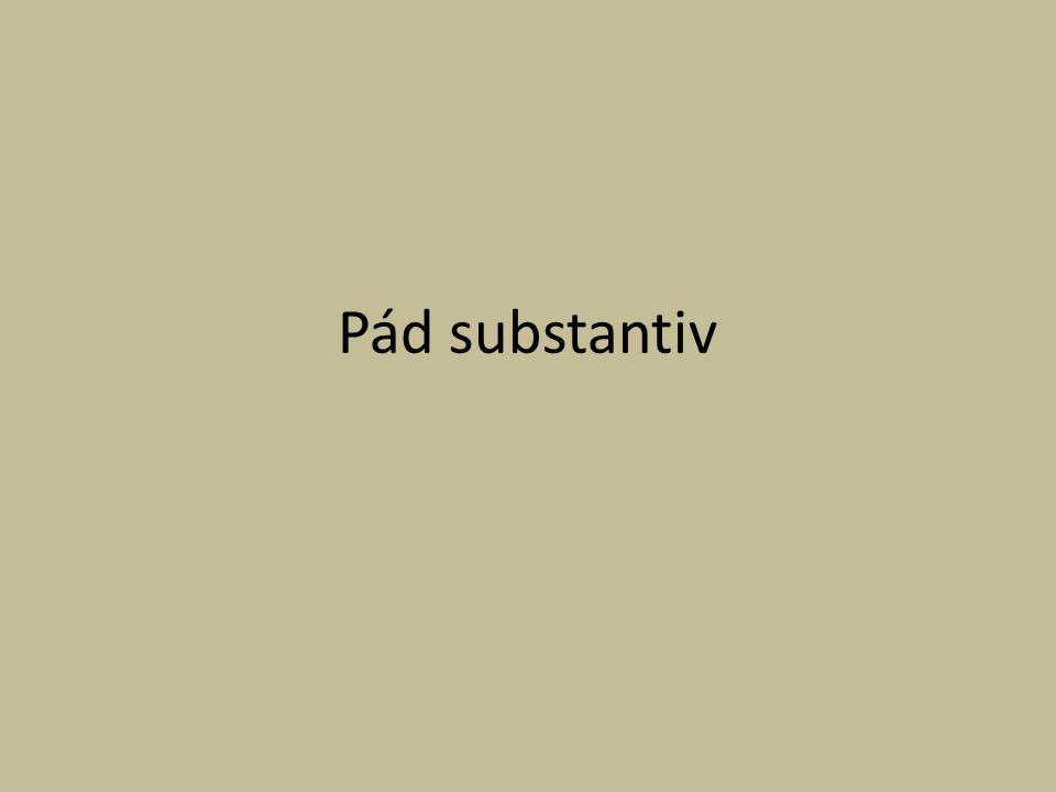 Pád substantiv