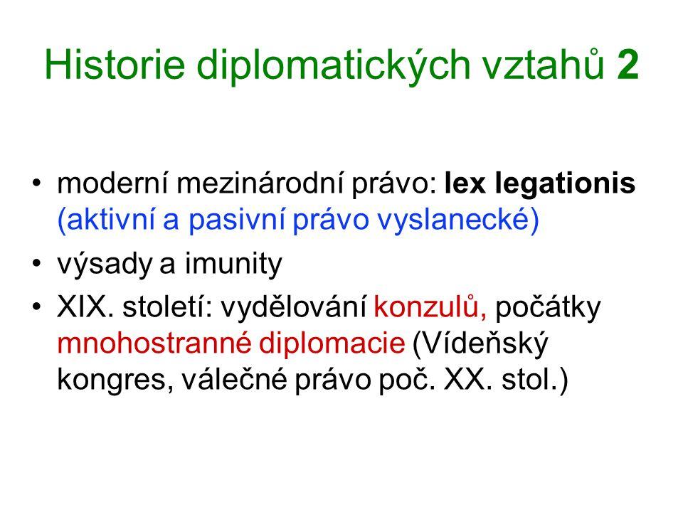 Historie diplomatických vztahů 2