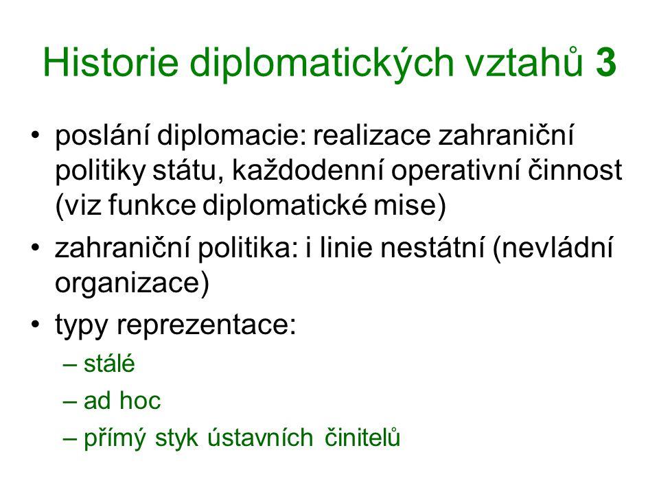 Historie diplomatických vztahů 3