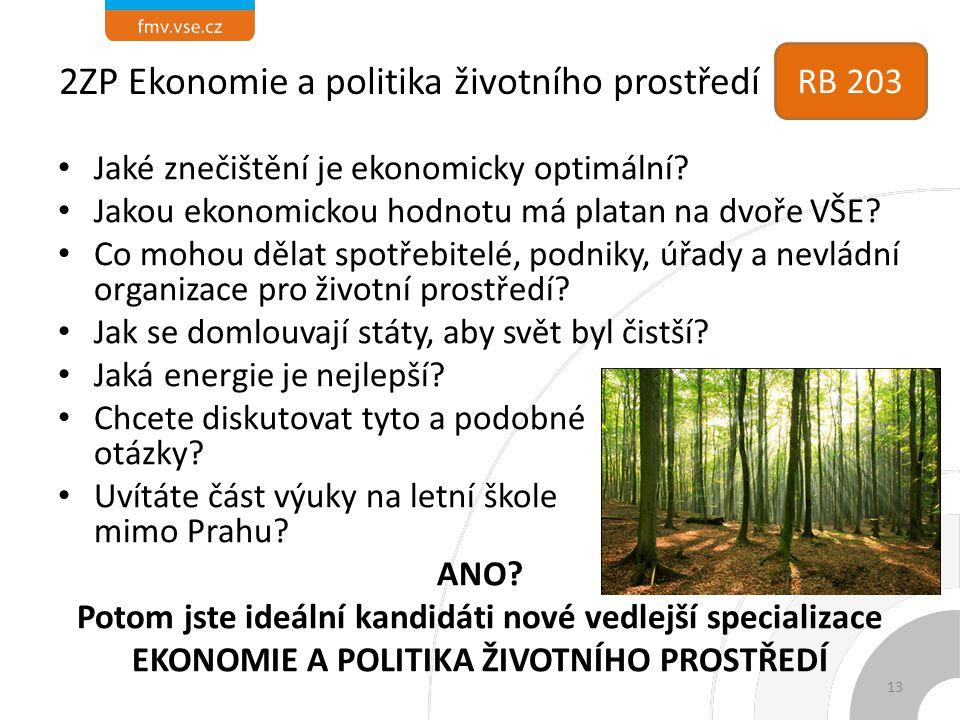 2ZP Ekonomie a politika životního prostředí