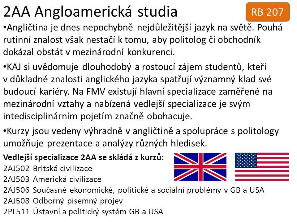 2AA Angloamerická studia