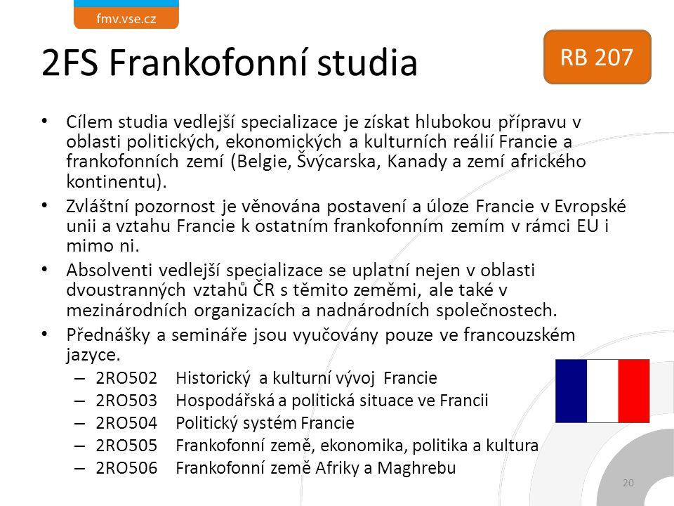 2FS Frankofonní studia RB 207