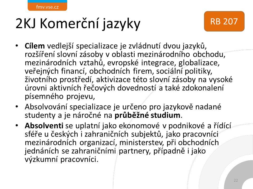 2KJ Komerční jazyky RB 207.