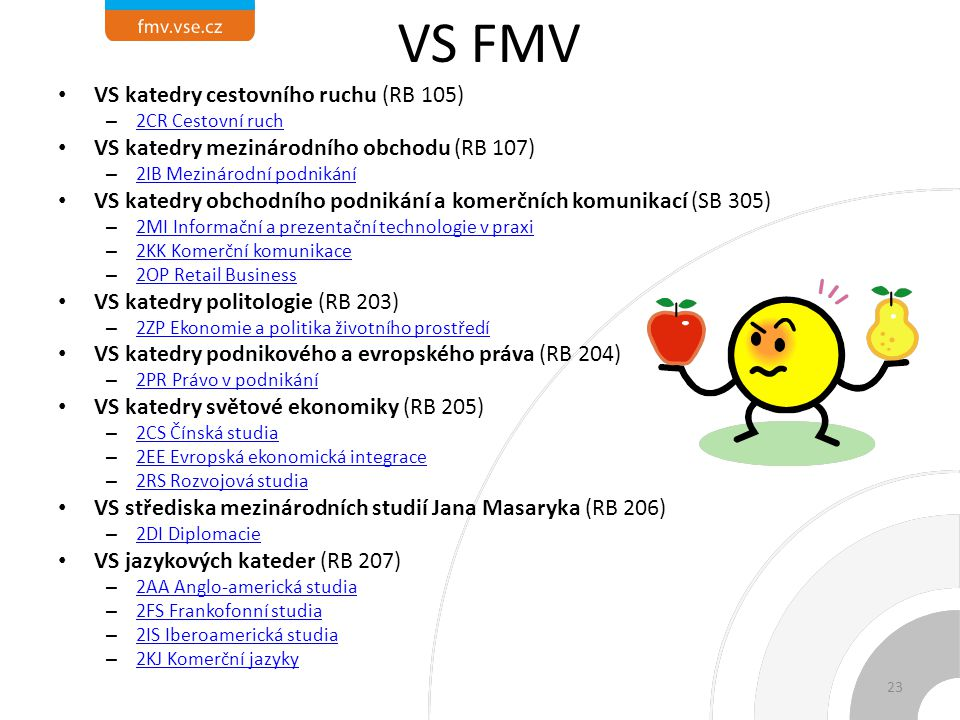 VS FMV VS katedry cestovního ruchu (RB 105)