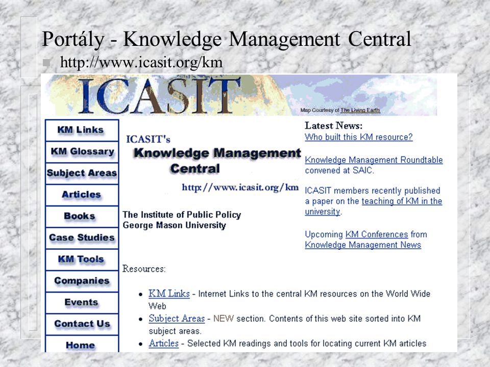 Portály - Knowledge Management Central