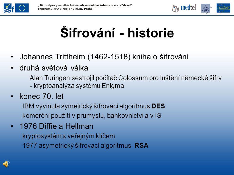 Šifrování - historie Johannes Trittheim (1462-1518) kniha o šifrování