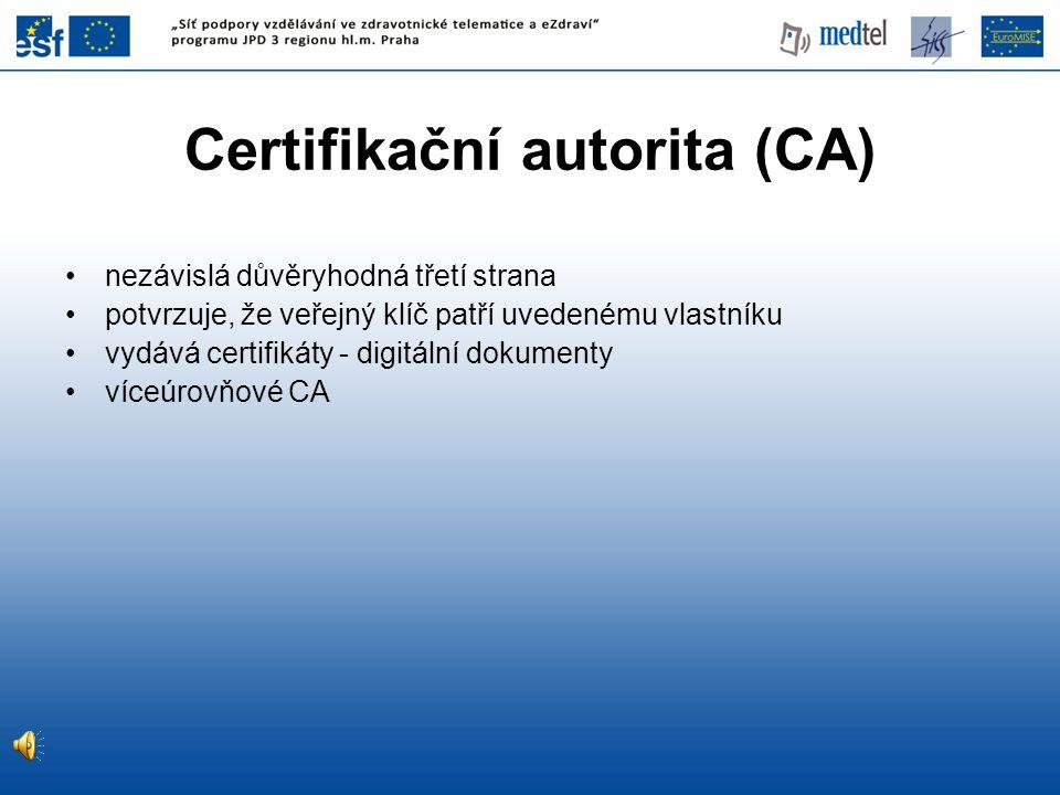 Certifikační autorita (CA)