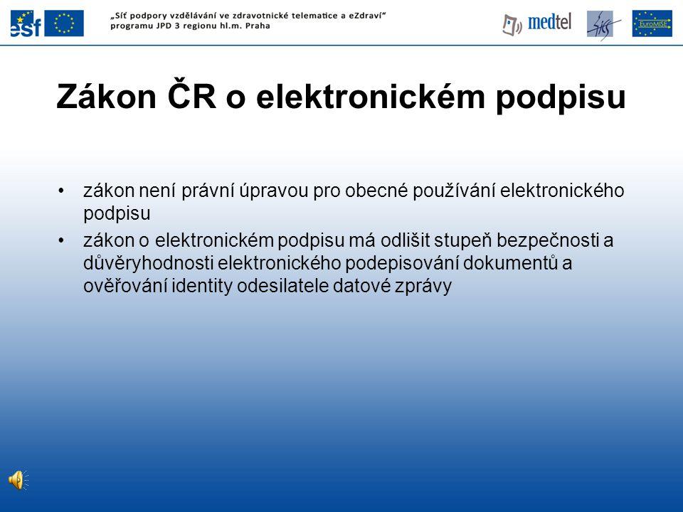 Zákon ČR o elektronickém podpisu